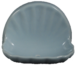 Ceramic Glaze Soap Dish Shell Glossy Sky Blue - $14.95