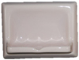 Ceramic Glaze Soap Dish Glossy Light Rose - $14.95