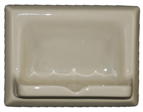 Ceramic Glaze Soap Dish Glossy Light Green Olive