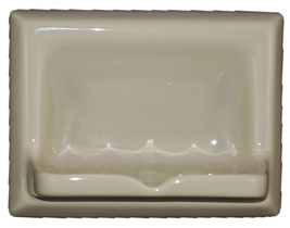 Ceramic Glaze Soap Dish Glossy Light Green Olive - $14.95