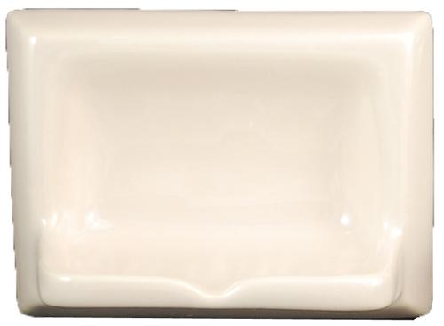 Ceramic Glaze Soap Dish Glossy Biscuit