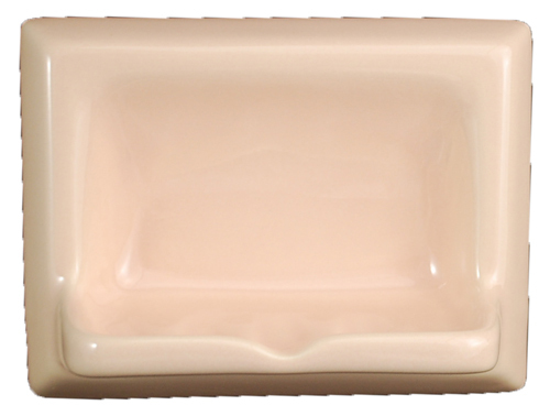 Ceramic Glaze Soap Dish Glossy Peach