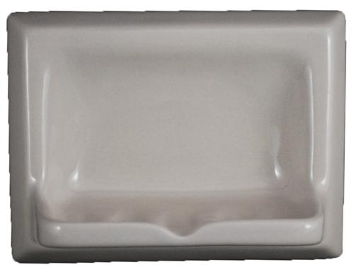 Ceramic Glaze Soap Dish Glossy Gray Bonanza