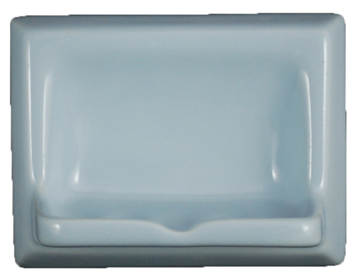 Ceramic Glaze Soap Dish Glossy Sky Blue