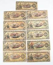 1914 México Peso Notas Lote (11) MB Gobierno Provisional Muy Fina 701b 7... - $103.94