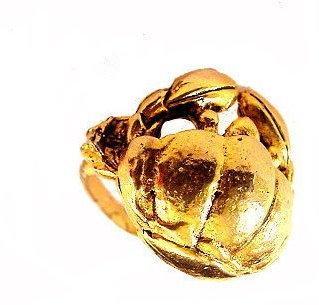 Vintage Goldtone Adjustable CRAB Ring