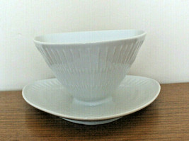 HUTSCHENREUTHER  Apart Gravy Boat with Attached Underplate Embossed Germany - $66.59