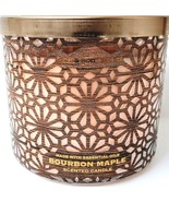 Bath & Body Works Bourbon Maple 3 Wick Candle 14.5 oz. Luminary Design - $26.24