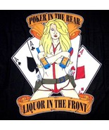POKER IN THE REAR LIQUOR IN THE FRONT TRIPLE ACES  WALL BANNER - $8.96