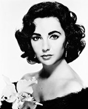 Elizabeth Taylor 16x20 Canvas Giclee Beautiful Studio Portrait With Flower - $69.99