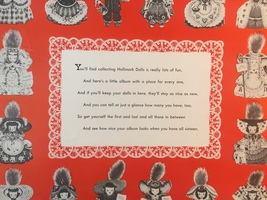 Vintage 40s Hallmark Dolls Collector Album with 7 Original Dolls image 3