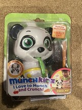 Munchkinz Panda Chewy Interactive Pet Toy Eat Talks Laughs Burp 30+ Soun... - $24.74