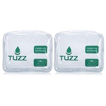 Pack 2 TSA Approved Clear Travel Toiletry Bag quart bags with zipper for... - $22.24 CAD