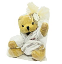 Curto Toy Teddy Bear Plush Lucius the Bear White Bath Robe The Saint Pau... - $9.60