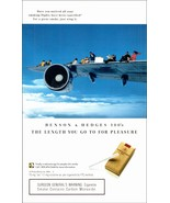 No Smoking Flight 1994 AD Benson & Hedges Recommends Just Wing It Tobacc... - $10.99