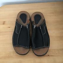 Doc Dr Martens AirWair Men's Slide Sandals Black Leather size 7 US Gentl... - $60.00