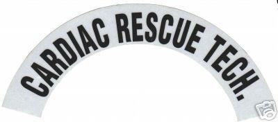 CARDIAC RESCUE TECH REFLECTIVE FIRE HELMET CRESCENT DECALS - A PAIR