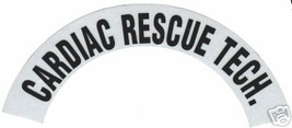 CARDIAC RESCUE TECH REFLECTIVE FIRE HELMET CRESCENT DECALS - A PAIR image 1
