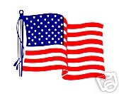 AMERICAN FLAG VINYL Decals - UNITED STATES. FLAG DECALS - PACKAGE OF 100