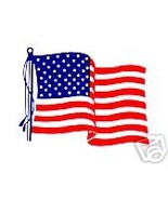 AMERICAN FLAG VINYL Decals - UNITED STATES. FLAG DECALS - PACKAGE OF 100 - $24.75
