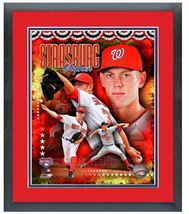 "11"" x 14"" Framed & Matted Stephen Strasburg Nationals - ""Portrait Pluses... - $43.95"
