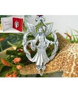 Vintage Angel Ornament Love Joy Seagull Pewter Canada 1995 Christmas - $17.95