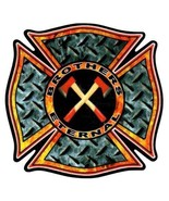 """BROTHERS ETERNAL Highly Reflective FIREFIGHTER DECAL - 2"""" x 2"""" - $1.93"""