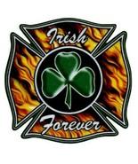 IRISH FOREVER Firefighter Maltese Cross and SHAMROCK Highly Reflective D... - $2.62