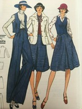 Vogue Sewing Pattern 9107 Vintage 1970s Jacket, Skirt, Pants, Vest Uncut... - $16.99