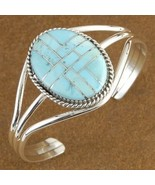 Native American Inlaid Genuine Turquoise Sterli... - $215.07