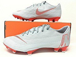 Nike Vapor 12 Pro FG Wolf Grey/Light Crimson Mens Soccer Cleats SZ (AH7382 060) - $59.40+