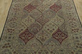 5x7 Multi-Color Oushak Wool Handmade Checked All-Over Transitional Area Rug image 12