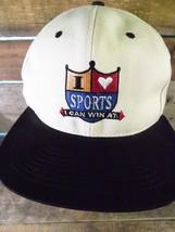 I Love Sports I Can Win At Shoebox Snapback Adjustable Adult Hat Cap - $8.90