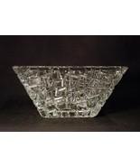 "Tiffany & Co. Crystal Square Bowl, Sierra Pattern, 9"" - $145.00"