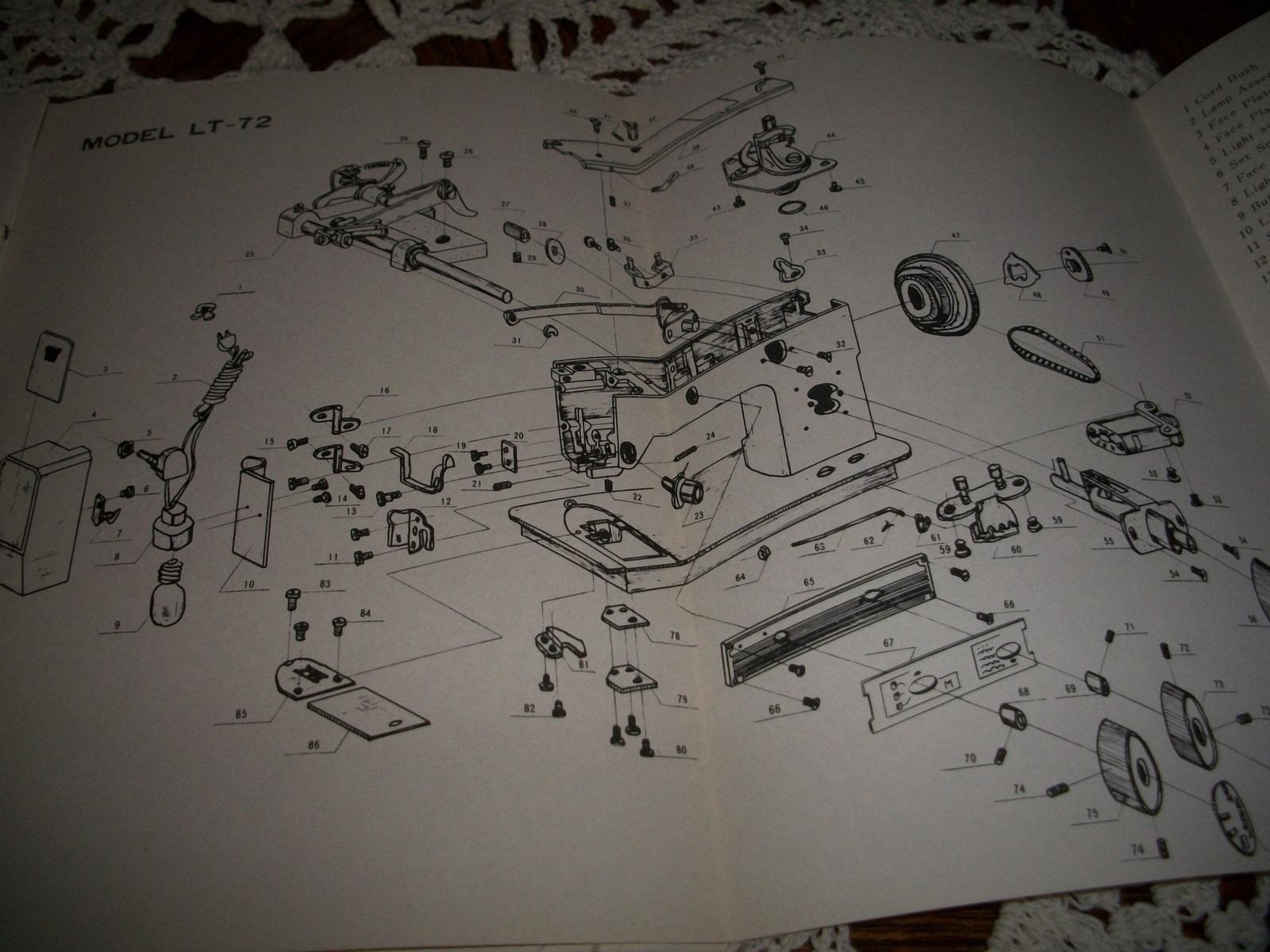 Emdeko Model LT-72 Sewing Machine Instruction Manual