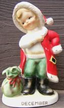 Vintage LEFTON DECEMBER CHRISTMAS SANTA BOY Ceramic Figurine 2300 - $79.99