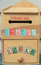 Nevco Trading Stamps and Books Box Wood Vintage... - $79.99