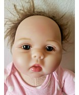 "Kaydora Baby Doll For Reborn Brunette Blue Eyes Silicon Jointed Arms Legs 22"" - $29.68"
