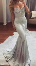 Long Prom Dresses, Satin Prom Dresses, Sexy Party Prom Dresses, Beading Dresses - $169.00+