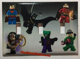 Lego Superhero Characters Light Switch Power Outlet Wall Cover Plate Home Decor image 6