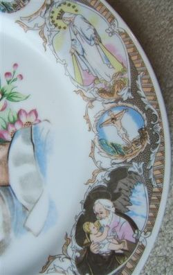 Vintage PRAYING HANDS Religious Porcelain Plate MADE IN JAPAN image 3