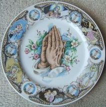 Vintage PRAYING HANDS Religious Porcelain Plate MADE IN JAPAN image 4