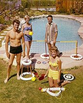 Clint Eastwood with wife and friends by pool 1960's bare chested rare 16x20 Canv - $69.99