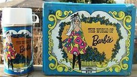 THE WORLD OF BARBIE THERMOS LUNCH BOX and BOTTLE 1971 - $129.99