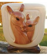 VINTAGE ROYAL COPELY DEER AND FAWN RECTANGULAR PLANTER - $99.99