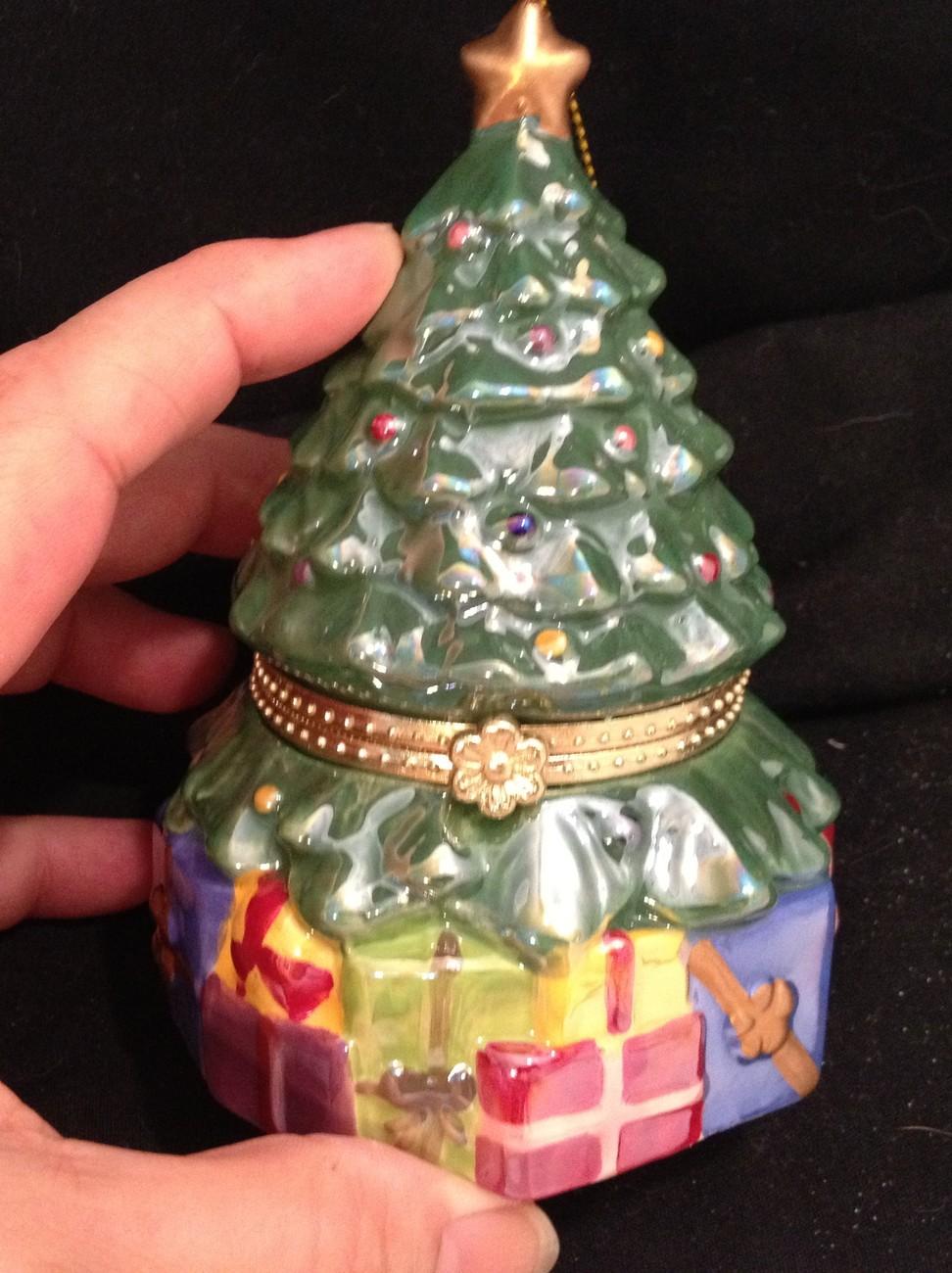 Pearlized Porcelain Musical Christmas Ornament - Christmas ...