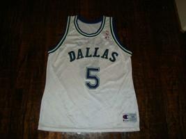 Vintage 90's Dallas Mavericks Jason Kidd Champion NBA Jersey 44 L  - $98.99