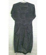 AllSaints Silk Snake Print Gray Draped Slouch Dress With Pockets Womens ... - $54.44