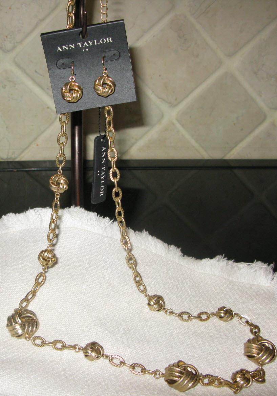 Ann Taylor Demi-parure Necklace Earrings Set NWT