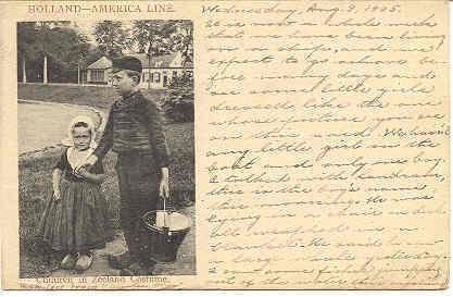 Holland America Steamship Lines vintage 1905 Post Card